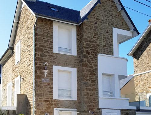Rénovation façade maison – Saint-Malo
